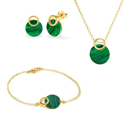 Pozlacené šperkové sety