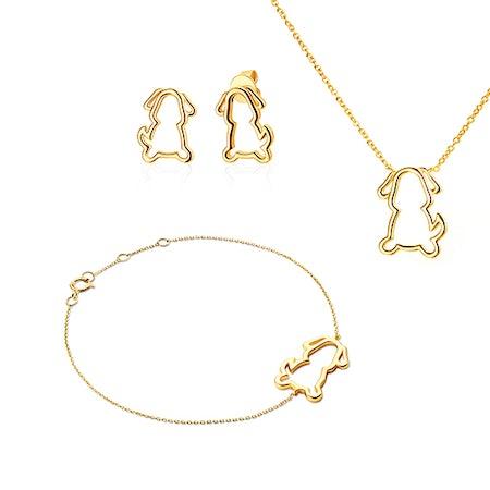 Komplety biżuterii ze zwierzętami