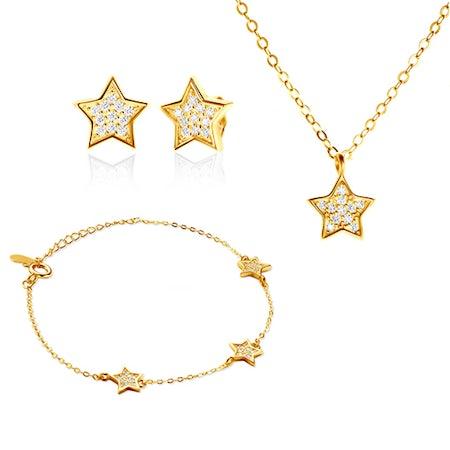 Komplety biżuterii z łańcuszkiem