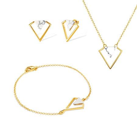 Komplety biżuterii z celebrytką