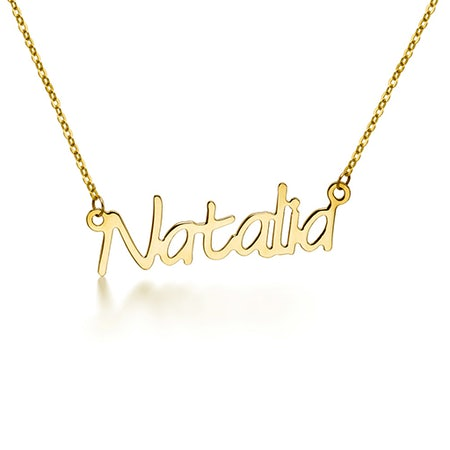 Name chain pendant necklaces