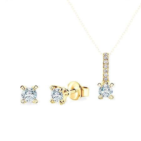 Złote komplety biżuterii