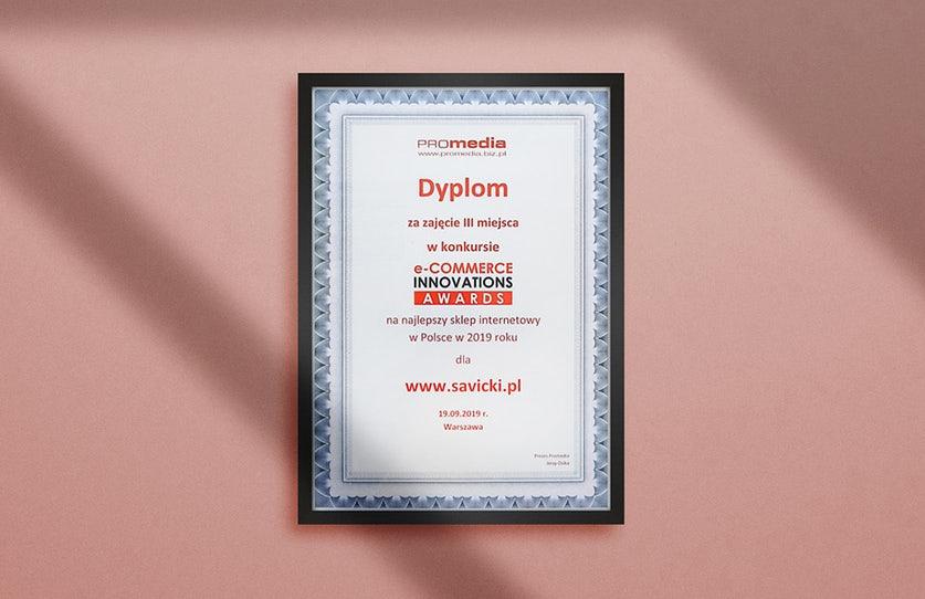 SAVICKI.pl wśród 3 najlepszych sklepów internetowych w Polsce