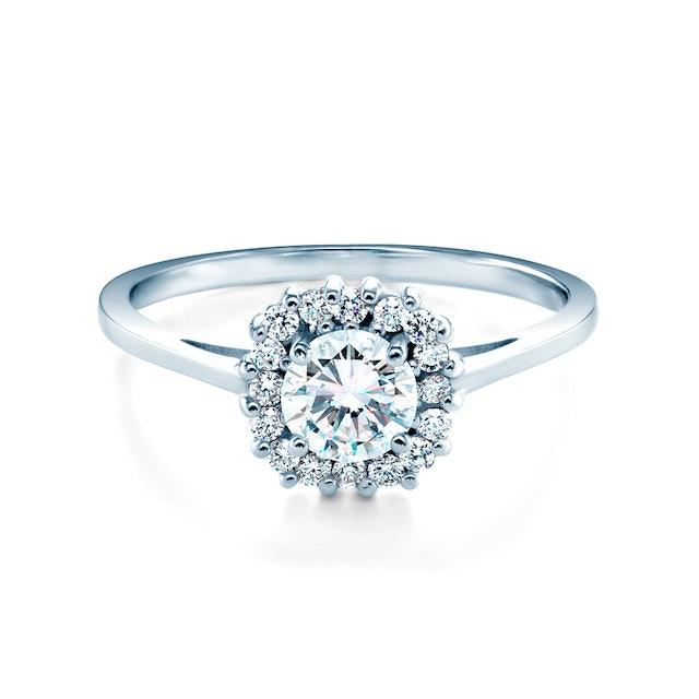 Zásnubný prsteň SAVICKI: biele zlato, biely zafír