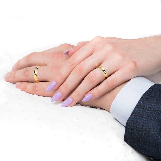 Svadobné obrúčky: zlaté, konkávne, 4 mm