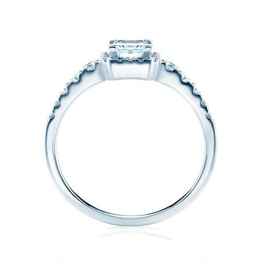 Zásnubný prsteň SAVICKI: biele zlato, diamant