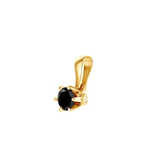 Prívesok SAVICKI: zlatý, čierny diamant