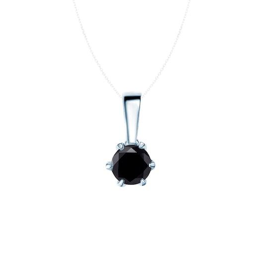 Prívesok SAVICKI: biele zlato, čierny diamant