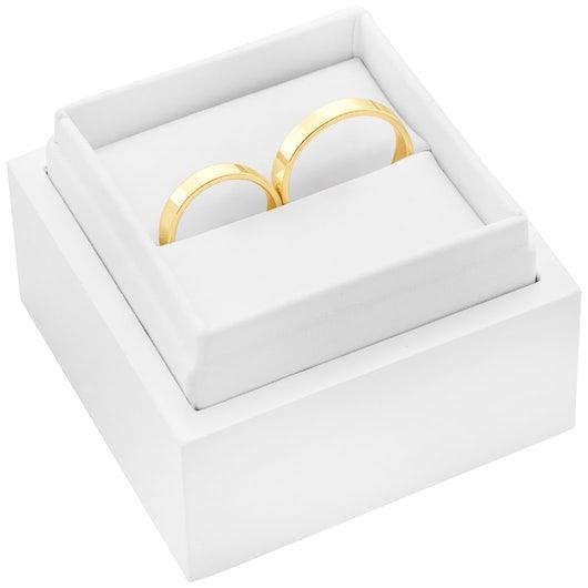 Svadobné obrúčky: zlaté, ploché, 4 mm