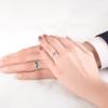 Svadobné obrúčky Fairytale: biele zlato, čierny diamant, polguľaté, 3 mm a 4 mm