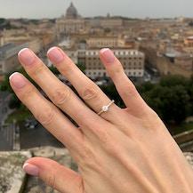 Pierścionek zaręczynowy Share Your Love: różowe złoto, czarny diament