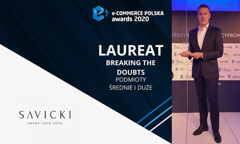 SAVICKI wśród najlepszych! Ponownie zostaliśmy laureatem nagrody e-Commerce Polska Awards 2020
