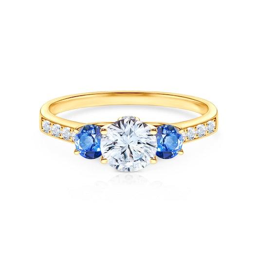 Zásnubný prsteň Dream: zlatý, biely zafír