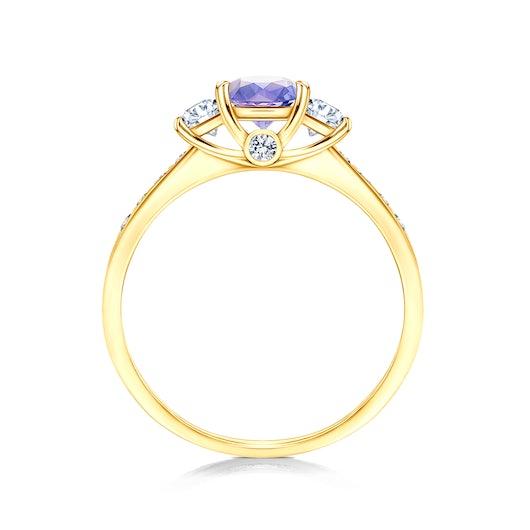 Pierścionek zaręczynowy Dream: złoty, tanzanit