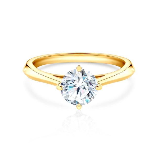 Zásnubní prsten The Light: žluté zlato, diamant