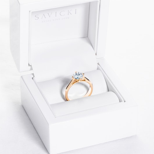 The Light Collection | Solitaire Engagement Ring: gold, diamond