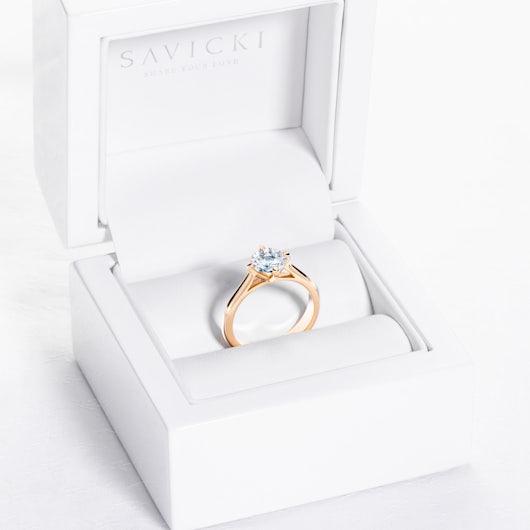 Zásnubný prsteň The Light: zlatý, diamant