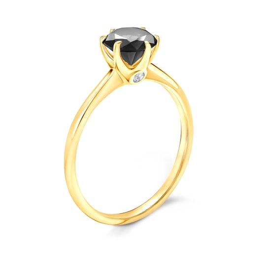 Zásnubní prsten The Journey: zlatý, černý diamant