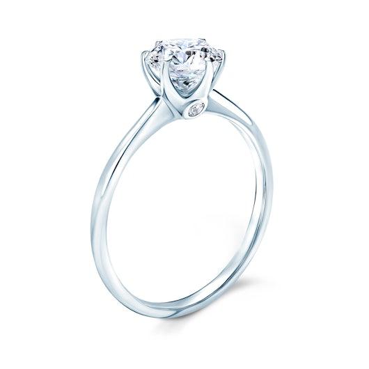 Zásnubní prsten The Journey: bílé zlato, bílý safír