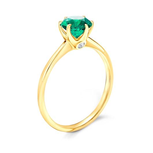 Zásnubný prsteň The Journey: zlatý, smaragd