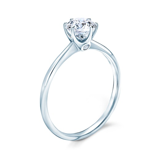 The Journey Collection | Solitaire Engagement Ring: white gold, white sapphire