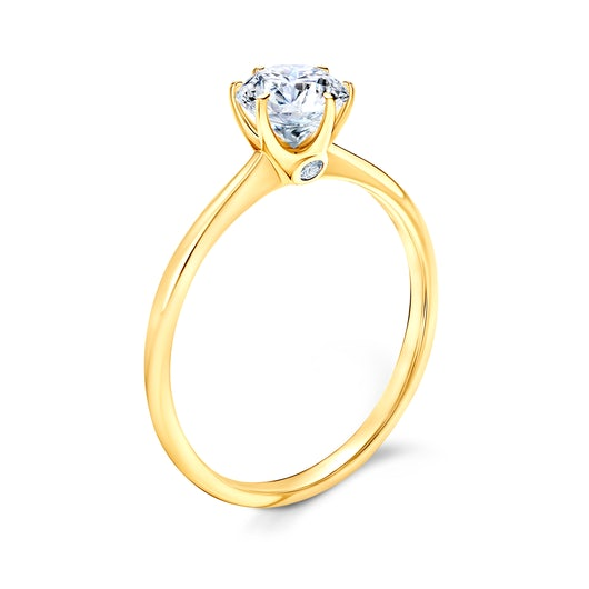 The Journey Collection | Solitaire Engagement Ring: gold, white sapphire