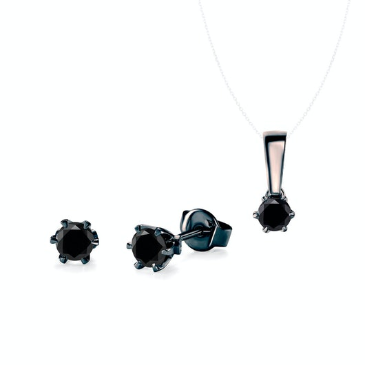 Komplet biżuterii Savicki: czarne złoto, czarne diamenty