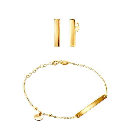 Komplet biżuterii Savicki: srebro pozłacane