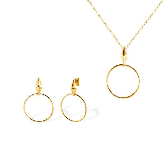Komplet biżuterii koła Savicki: srebro pozłacane