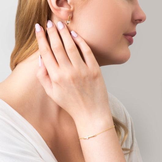 Komplet biżuterii Savicki: srebro pozłacane, cyrkonie