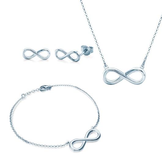 Komplet biżuterii nieskończoność Savicki: srebro