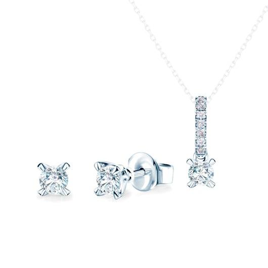 Komplet biżuterii Savicki: białe złoto, diamenty