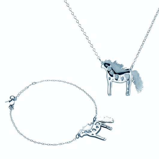Komplet biżuterii Savicki: srebrny
