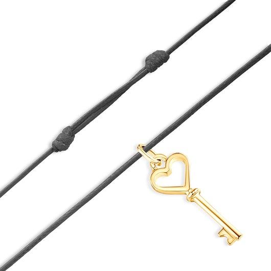 Bransoletka The Keys: srebrna pozłacana