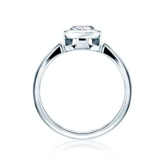 Pierścionek zaręczynowy SAVICKI: platyna, diament