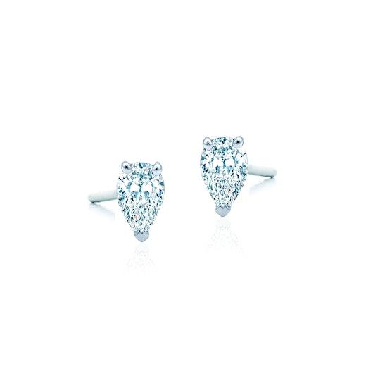 Kolczyki Pure: białe złoto, diamenty