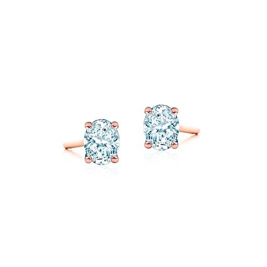 Kolczyki Pure: różowe złoto, diamenty