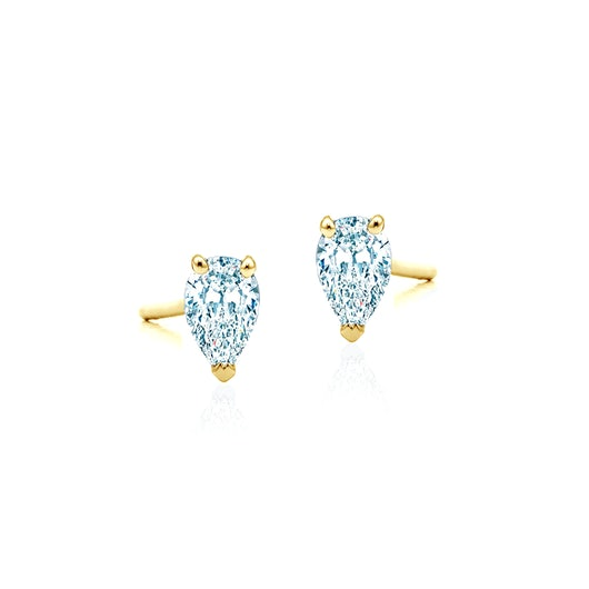 Kolczyki Pure: złote, diamenty