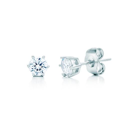 Kolczyki: białe złoto, diamenty
