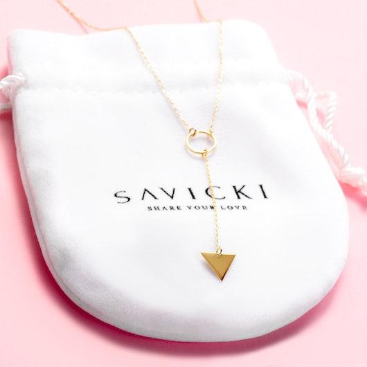 Naszyjnik trójkąt Savicki: złoty