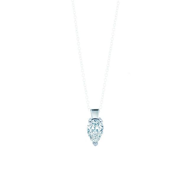 Zawieszka Pure: białe złoto, diament