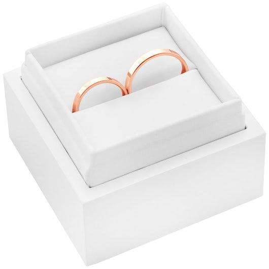 Obrączki ślubne: różowe złoto, płaskie, 2 mm
