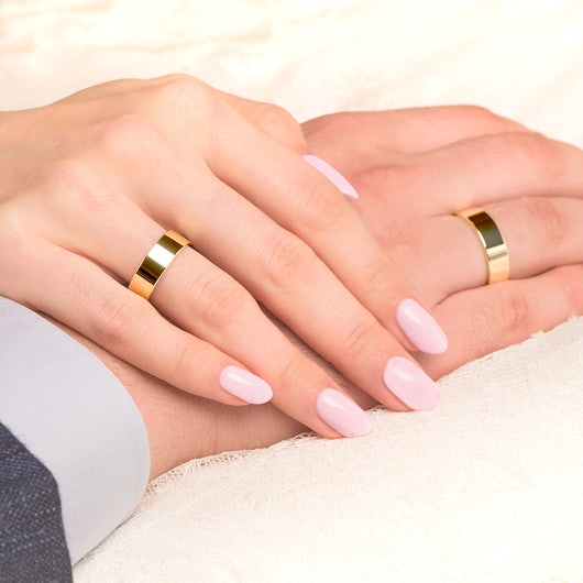 Obrączki ślubne: złote, płaskie, 6 mm