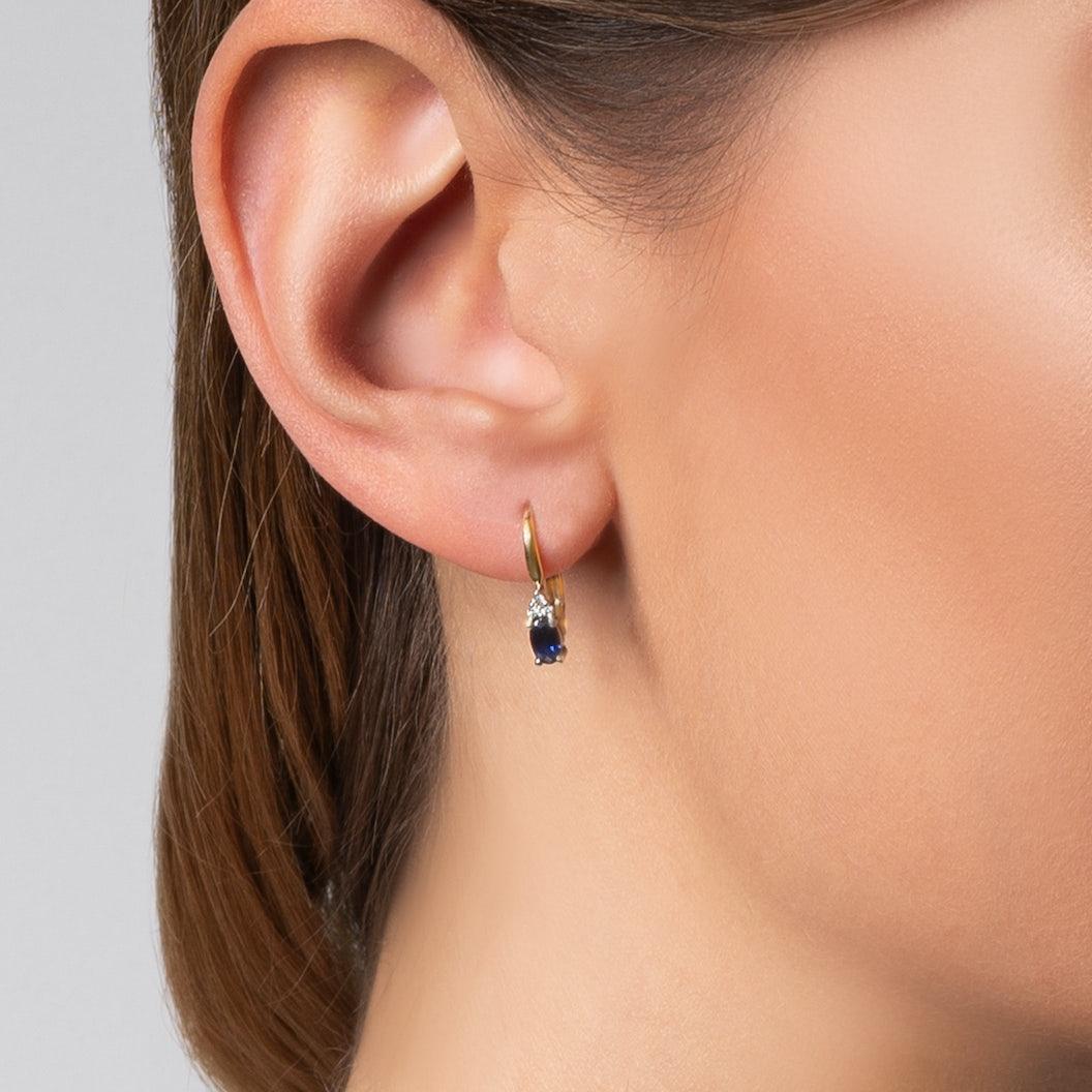 Kolczyki Savicki: złote, diamenty, tanzanity