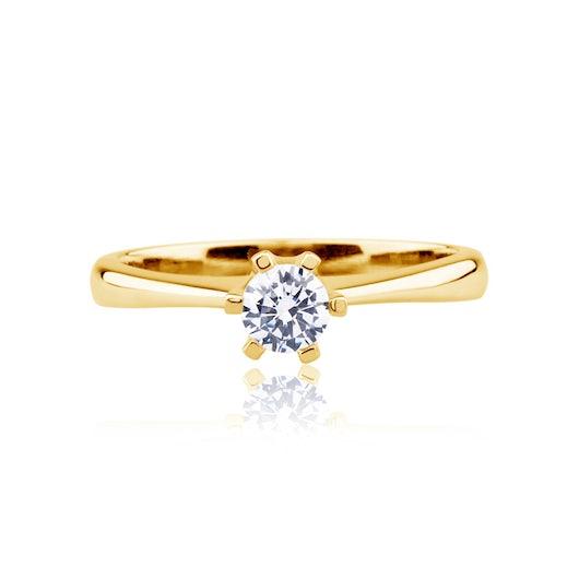 Pierścionek zaręczynowy Triumph of Love: złoty, diament