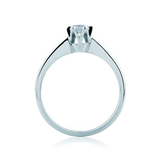 Pierścionek zaręczynowy Triumph of Love: białe złoto, diament