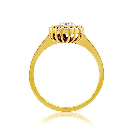Pierścionek SAVICKI: złoty, diamenty