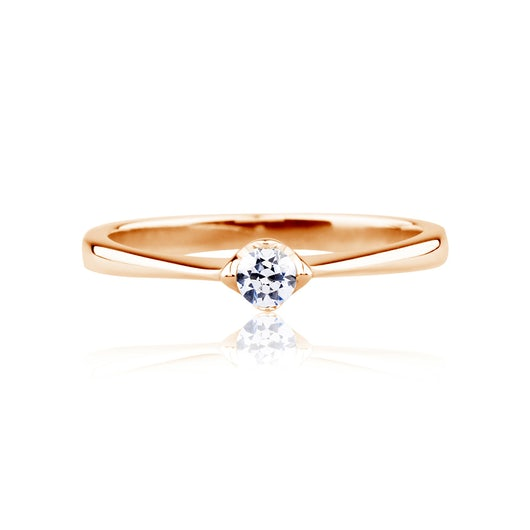 Solitaire Engagement Ring: rose gold, diamond