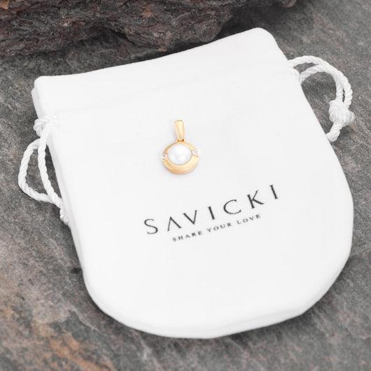 Zawieszka Savicki: złota, perła