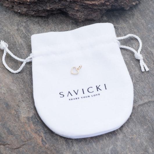 Zawieszka serce Savicki: złota